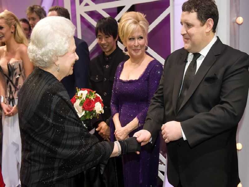 Peter Kay and Bette Midler meet Her Majesty the Queen