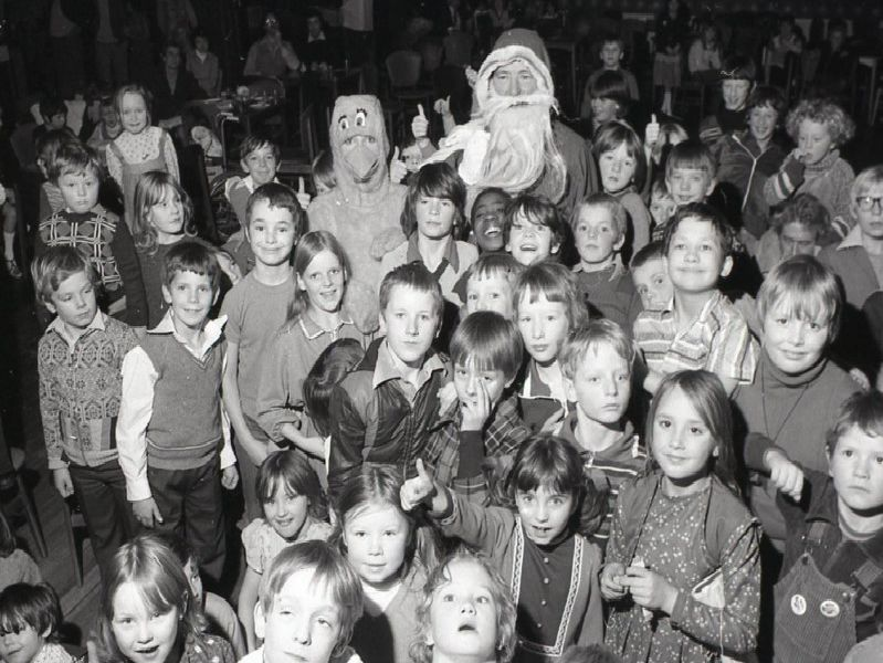 Children and Father Christmas enjoying Preston North End's Christmas party