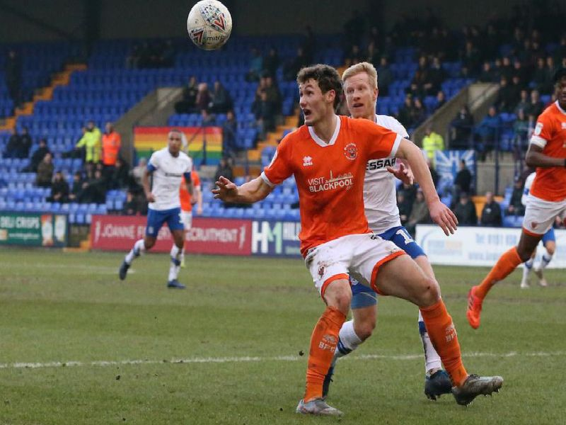 Matty Virtue impressed on his return to Blackpool's starting line-up