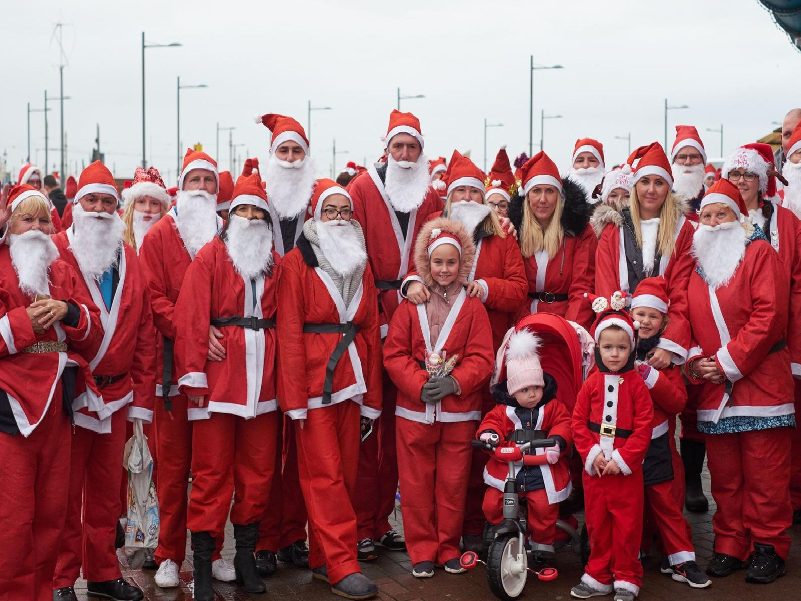Santa Dash in Blackpool