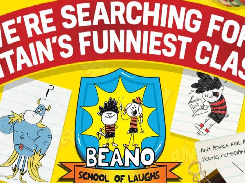 The Beano is searching for Britain's funniest class.