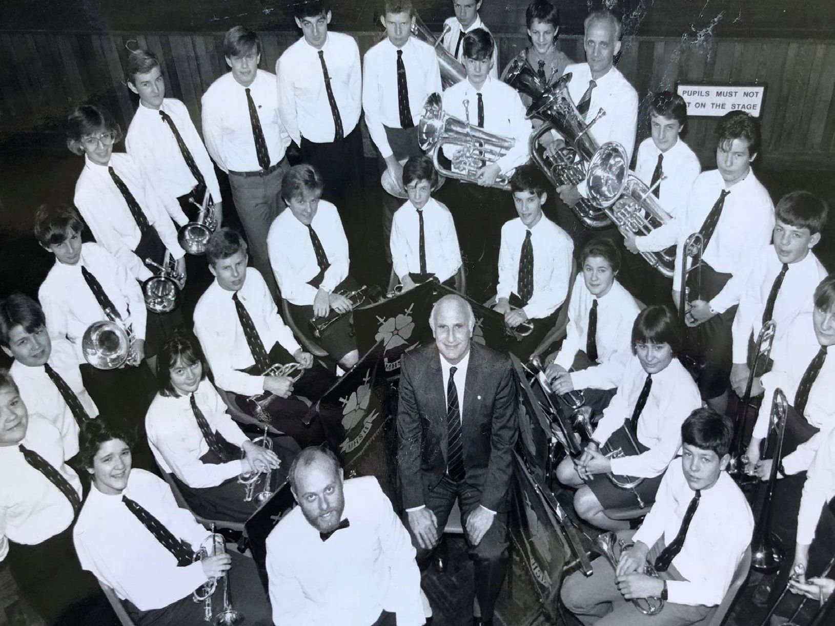 Montgomery High School band, pictured in 1988