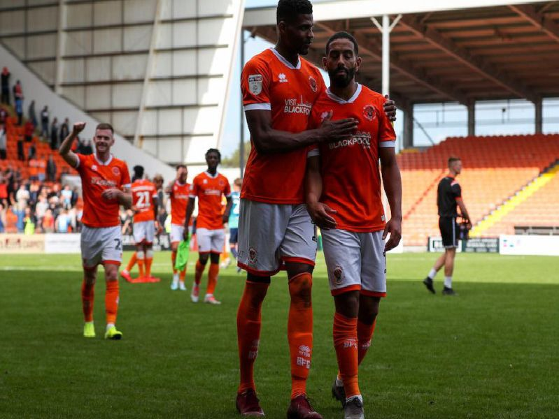 Star man Liam Feeney with Michael Nottingham at the final whistle