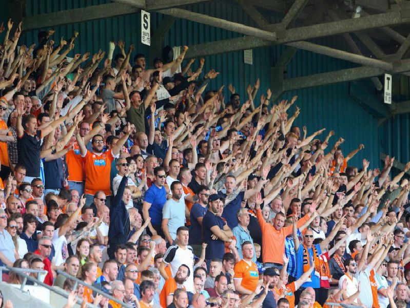 Were you among the 2,014 Blackpool fans at Spotland yesterday?