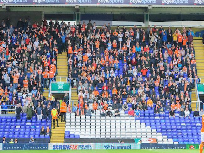 884 Blackpool fans made the trip to Birmingham