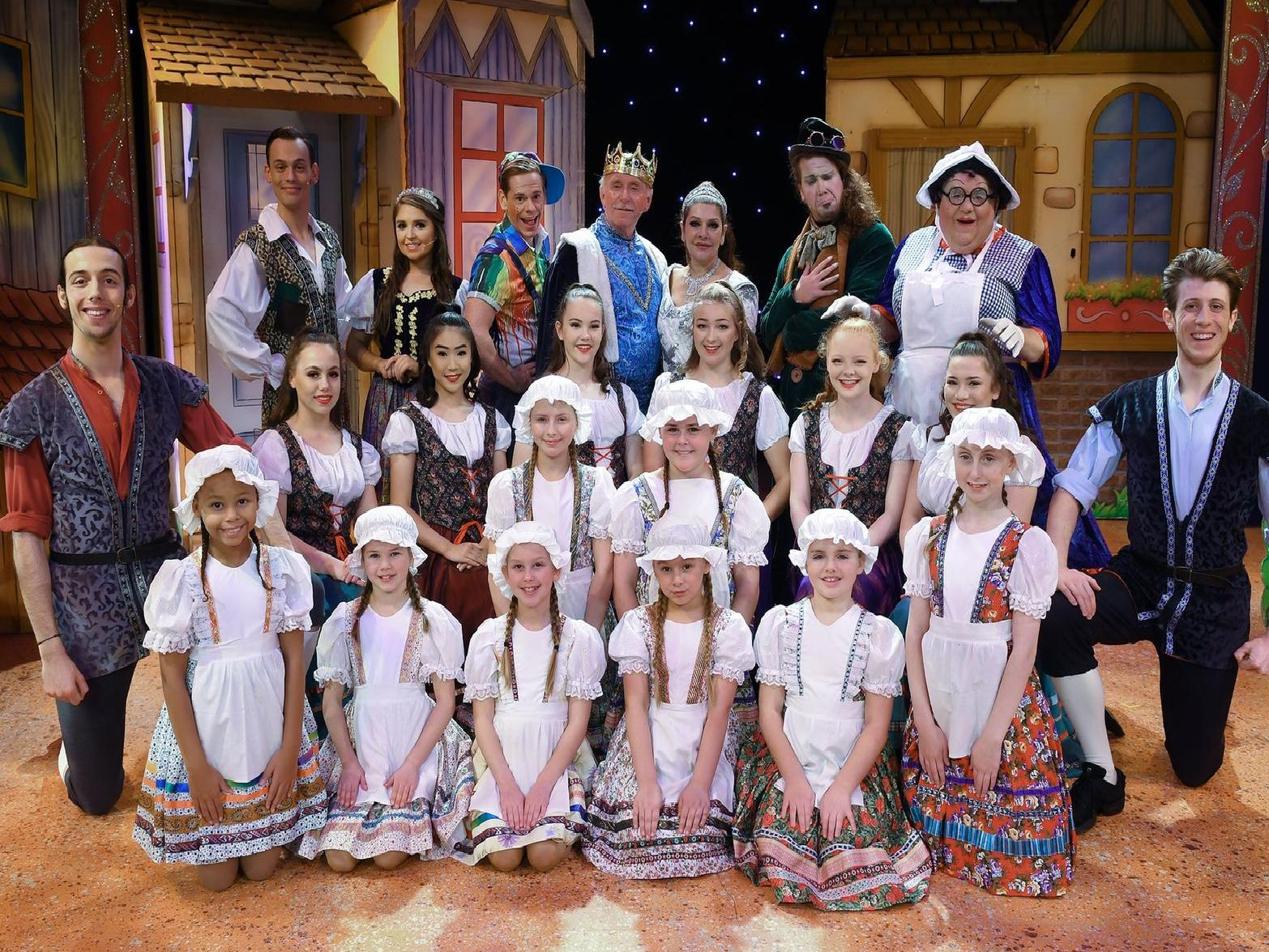The cast of Jack And The Beanstalk at Bridlington Spa