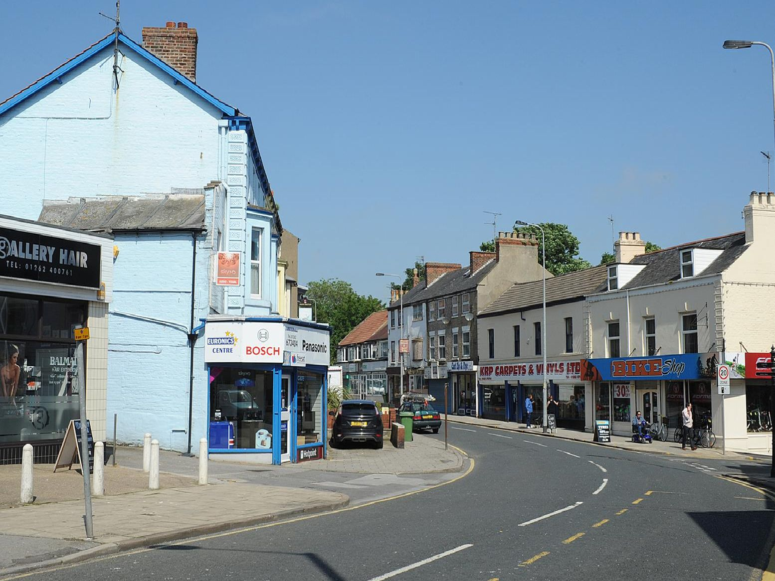 This was the view of Hilderthorpe Road in 2012.
