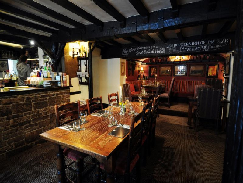 Inside the Shibden Mill Inn.