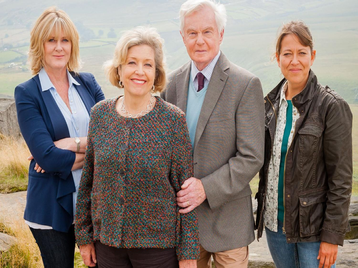 Cast of Last Tango in Halifax. Picture: BBC