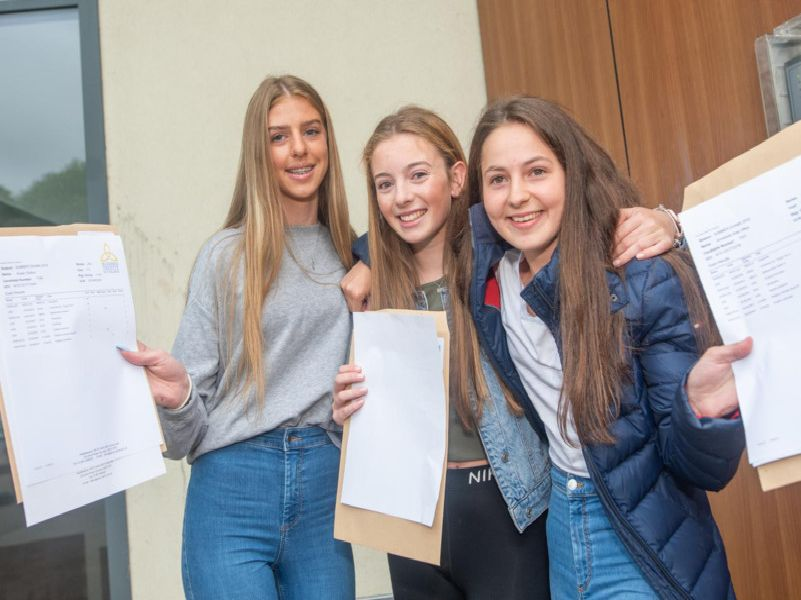 Blessed Trinity RC College GCSE results day joy