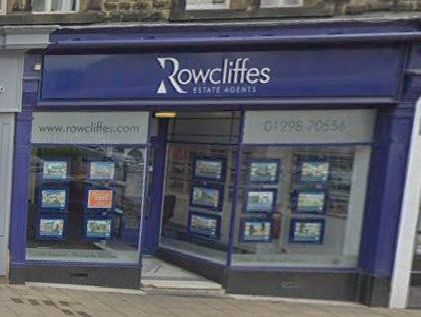 The former Rowcliffes office at 3 Grove Parade, Buxton. Plans have been submitted to change its use from estate agent to restaurant. Photo: Google.