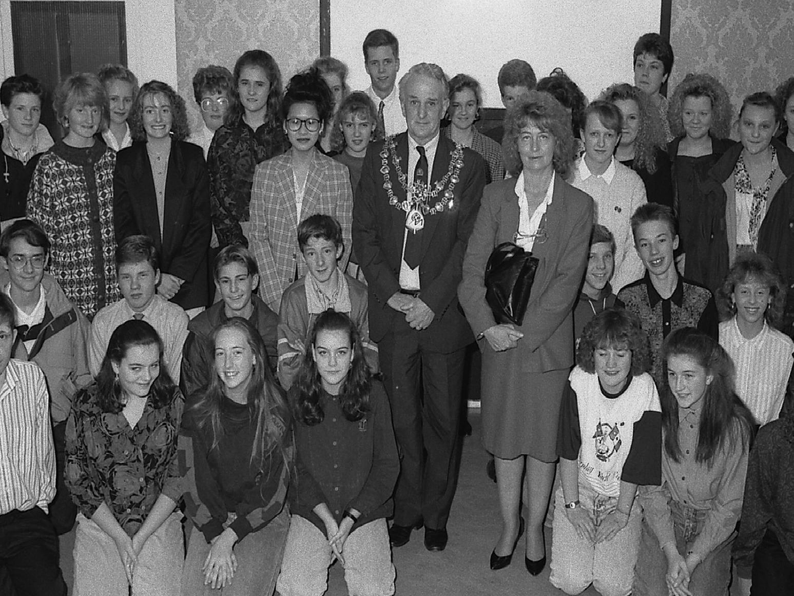 1989: A fabulous group shot featuring children involved in the Duke of Edinburgh Awards. Are you on this picture?