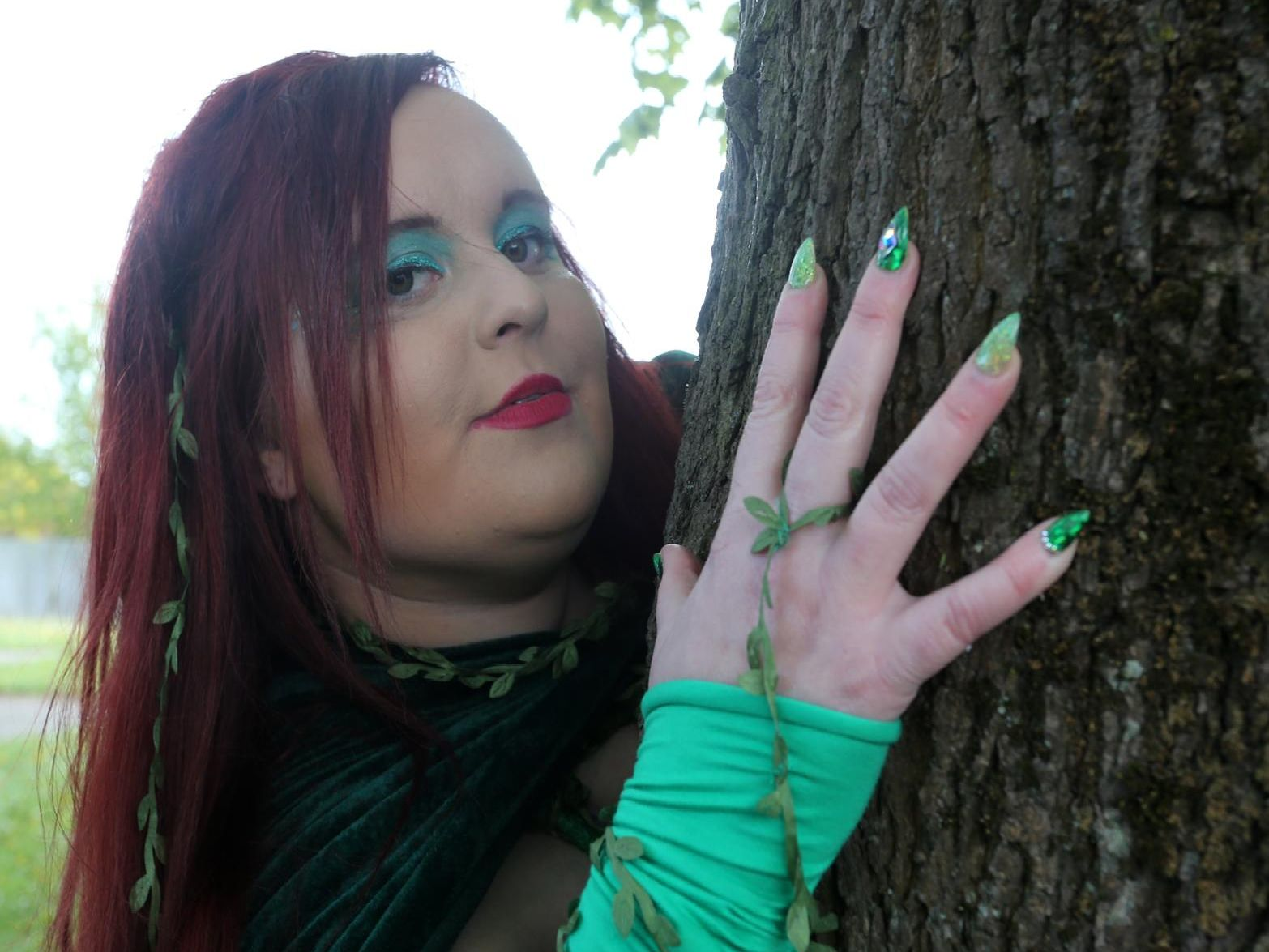 Emily Blount dressed as DC Comics villain Poison Ivy for Mansfield Comic Con on Saturday.