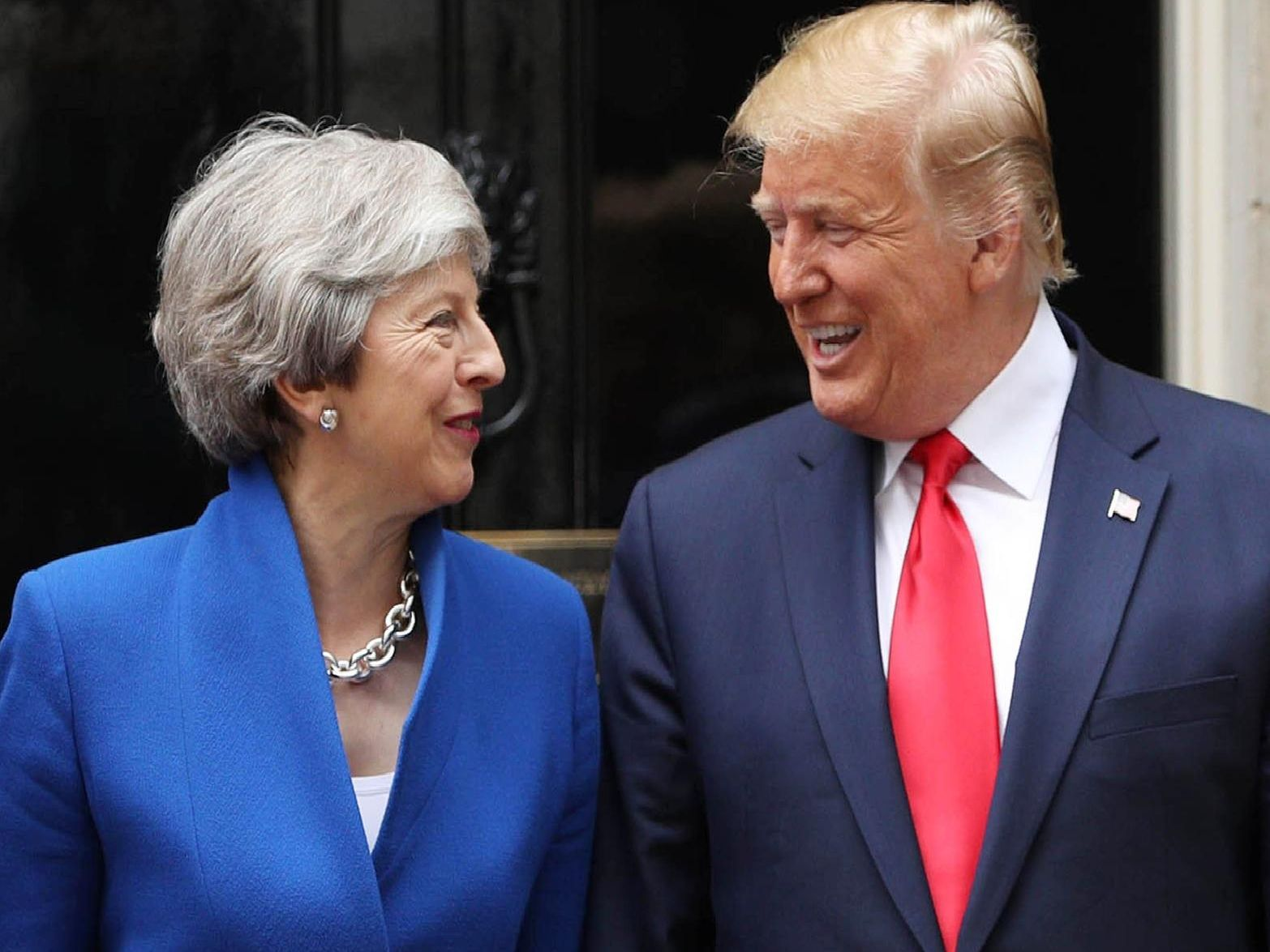 Donald Trump and Theresa May at Downing Street. Photo: Getty Images.