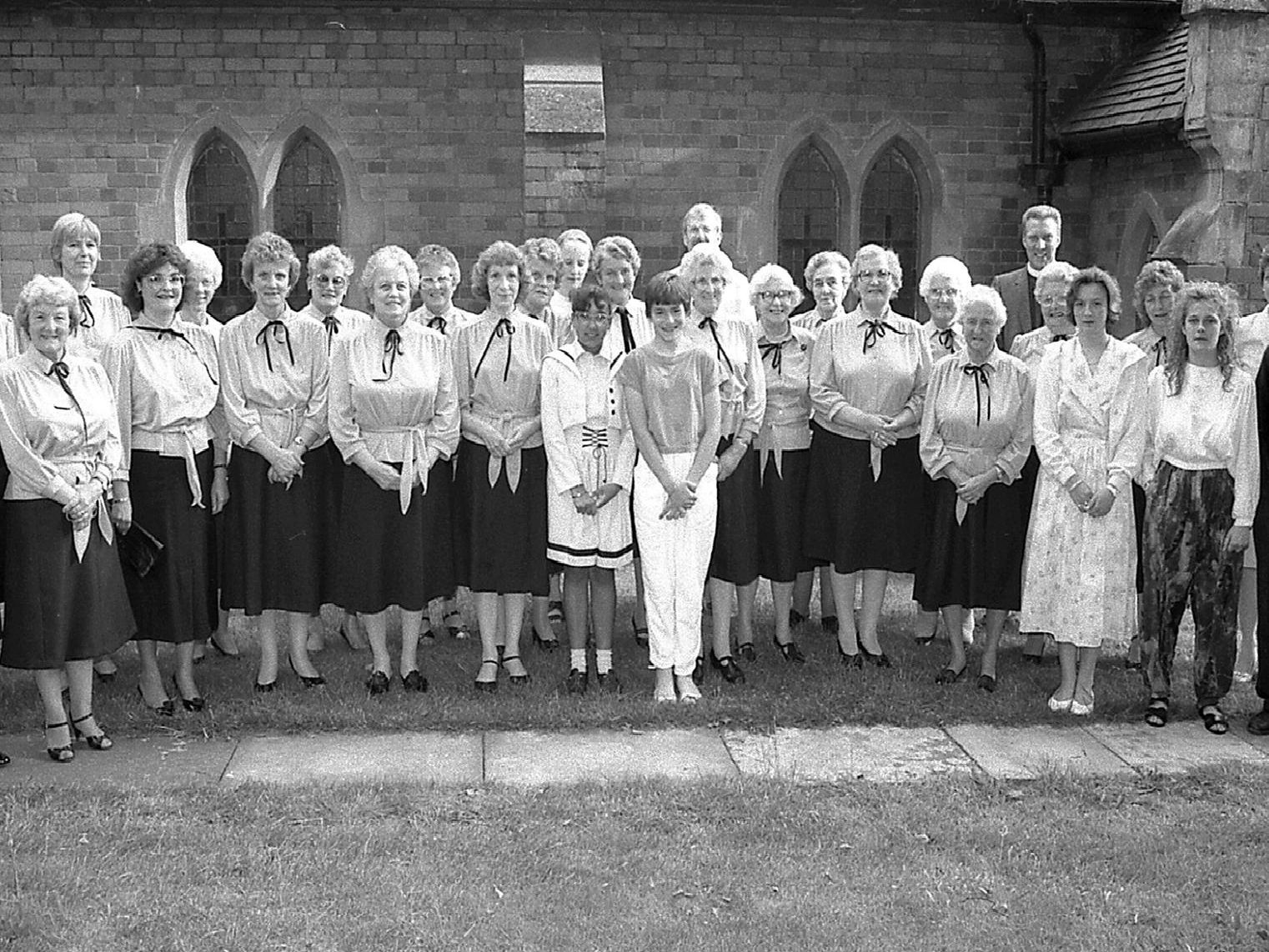 1989: A fantastic nostalgic group shot snapped at St Thomas Church concert. Do you recognise anyone?
