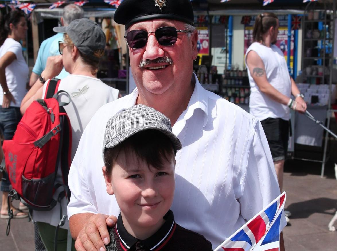 Old soldier John Hobson took his grandson Aaron Scott along to the event.
