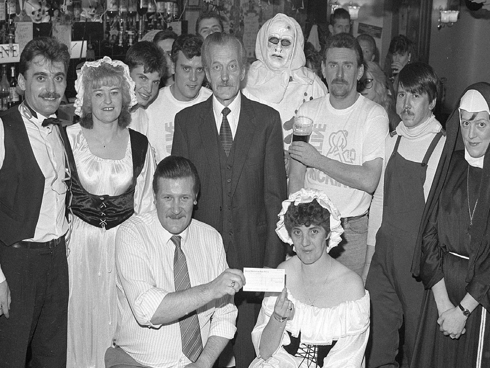 1990: A fabulous nostalgic shot of a charity event held at Cuckoo Birch in Mansfield. Did you attend this event? Maybe you were in the scary costume.