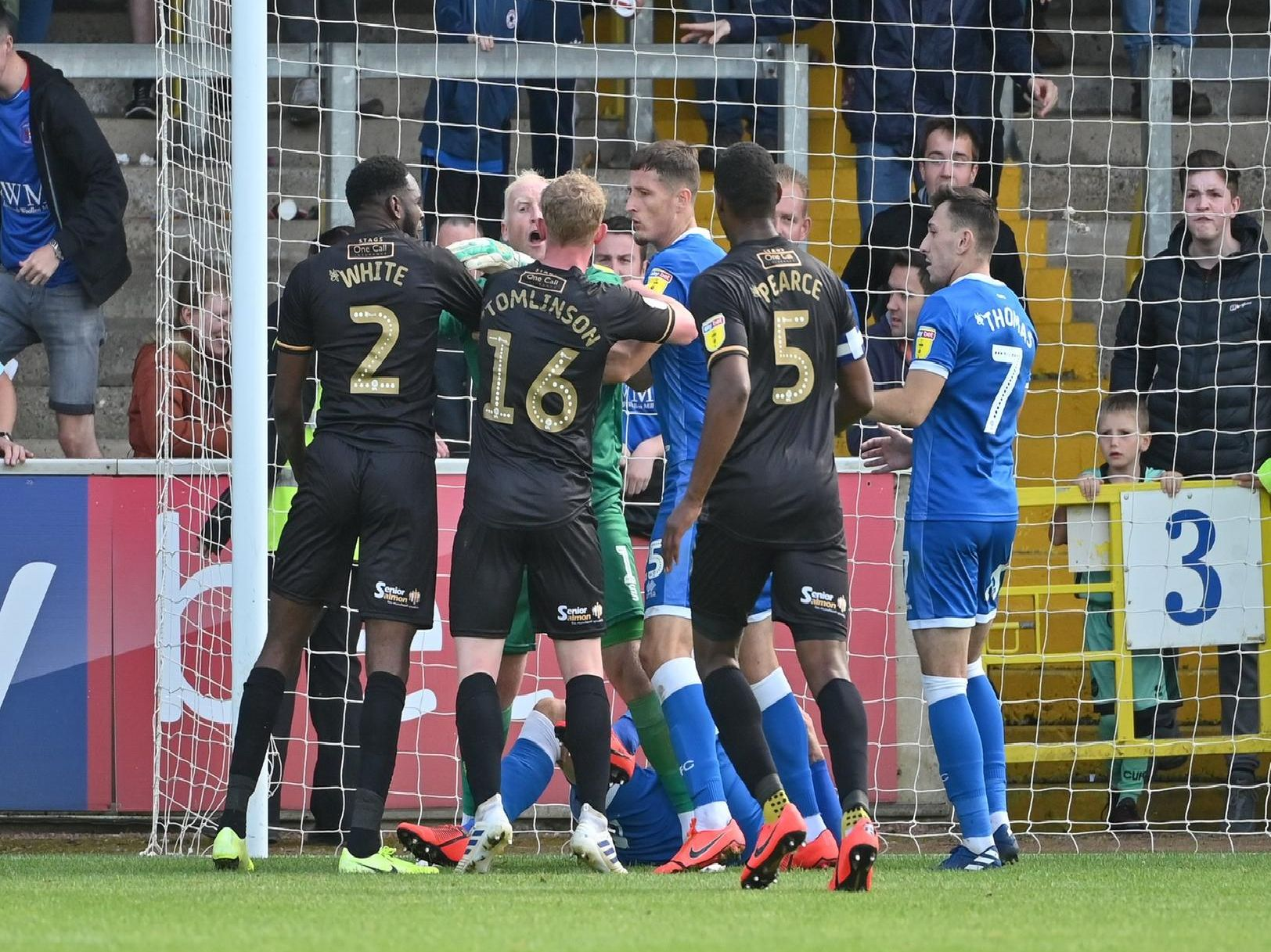 Stags got their first win of the campaign with a 2-0 victory at Carlisle.