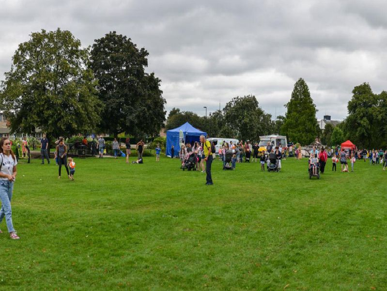 Families enjoyed pony rides, circus skills workshops, stalls and sports competitions.