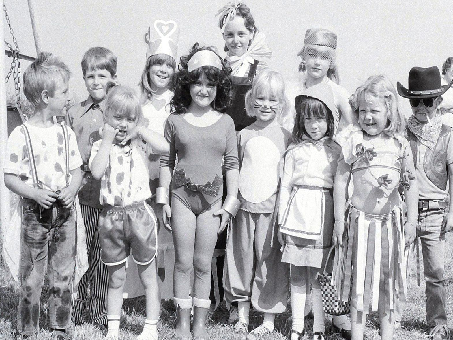 1981: These children are all dressed up ready for a street party in Blidworth to celebrate the wedding of Prince Charles and Diana. Are you on this picture?