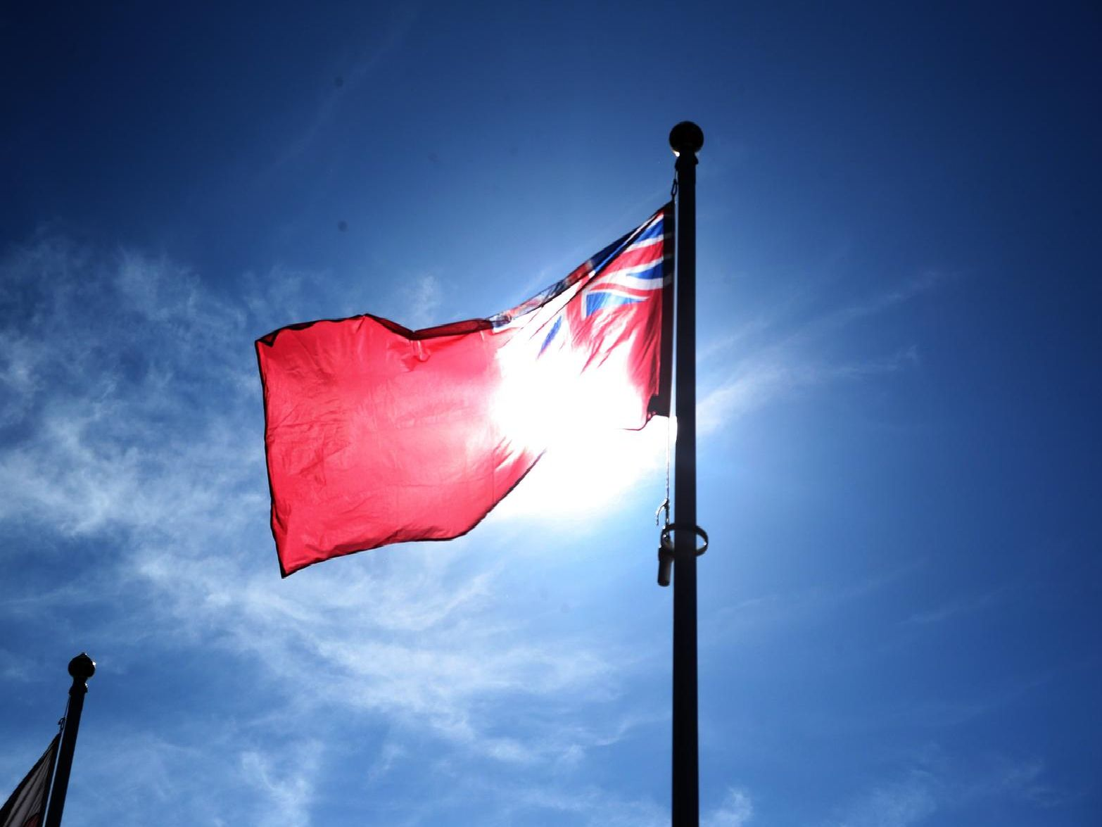 The Ensign was raised.