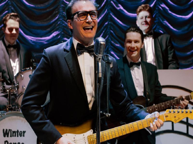Christopher Weeks as Buddy Holly in Buddy - The Buddy Holly Story.