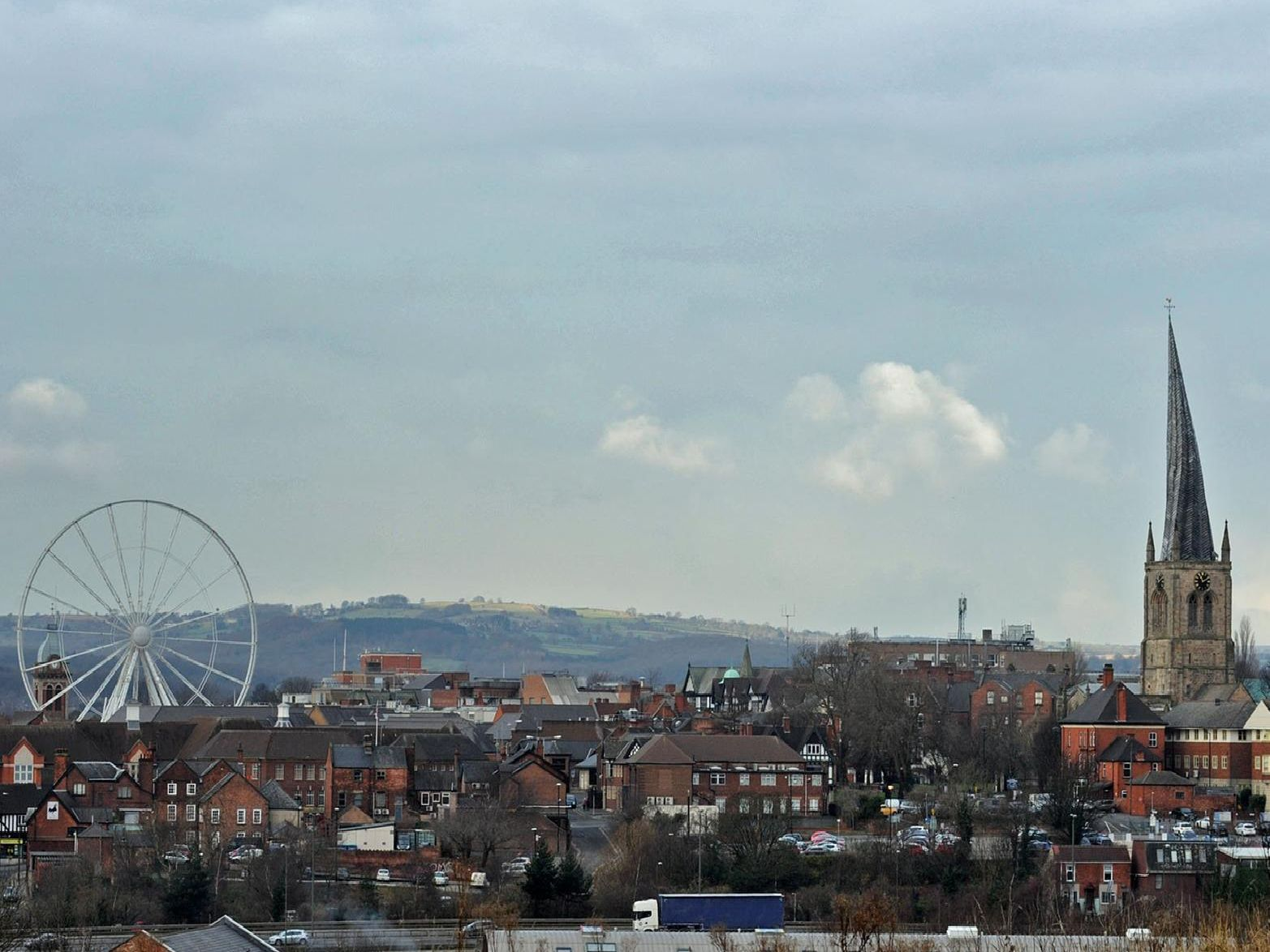 Chesterfield's skyline had a new addition with the observation wheel