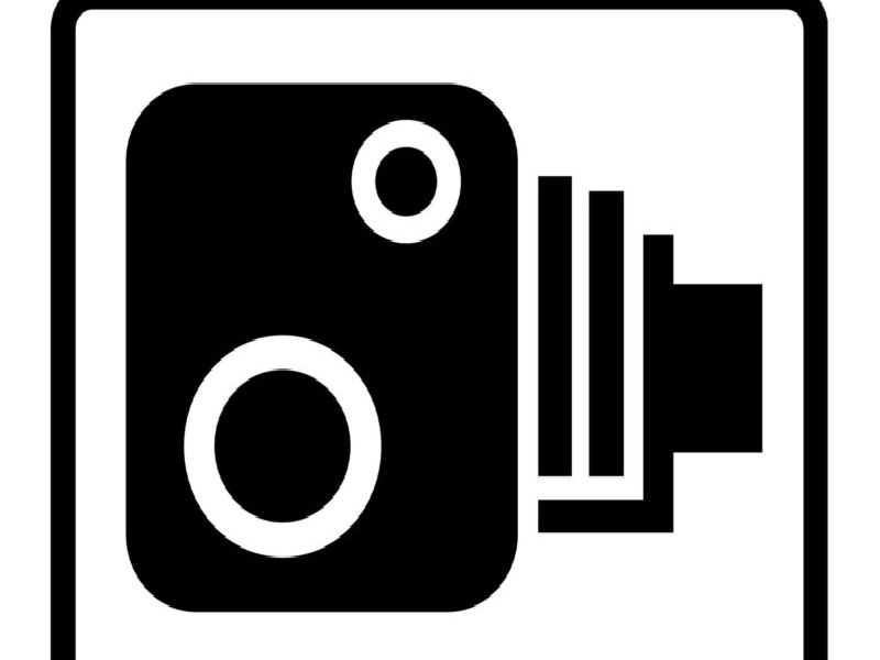 The classic speed camera warning sign