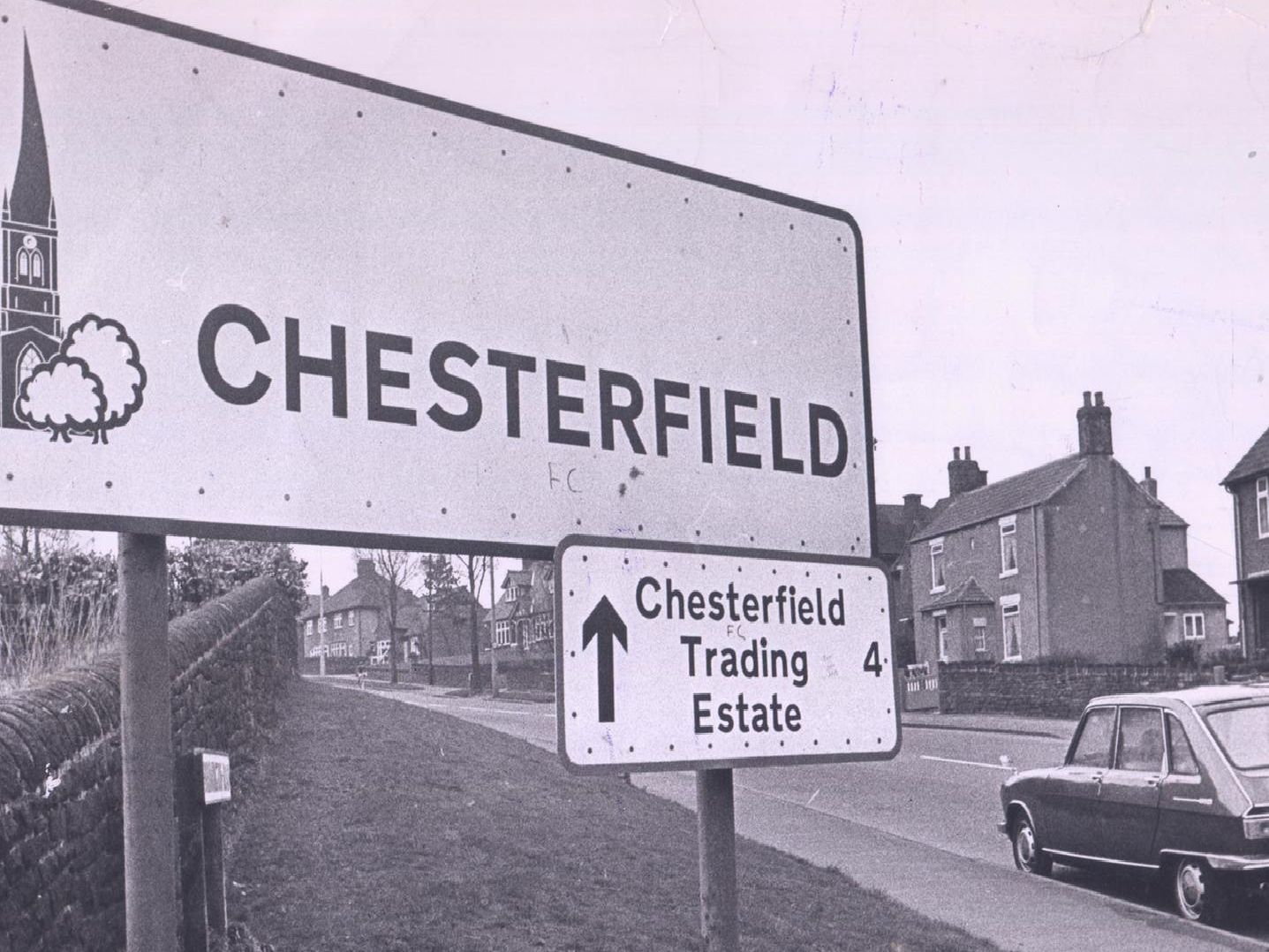 Old Chesterfield sign.