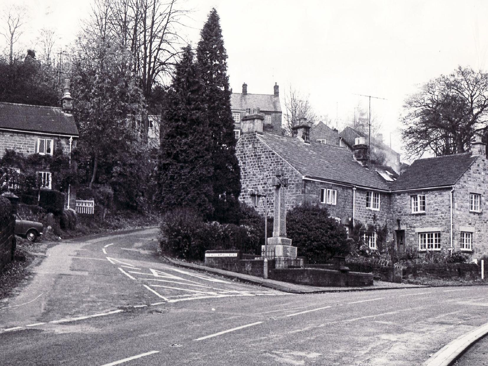 1972: This is Grindleford village back in the 70s.
