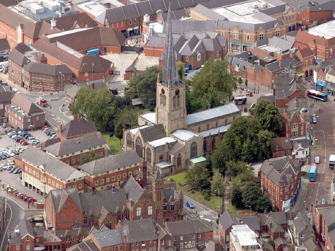 Chesterfield from above.