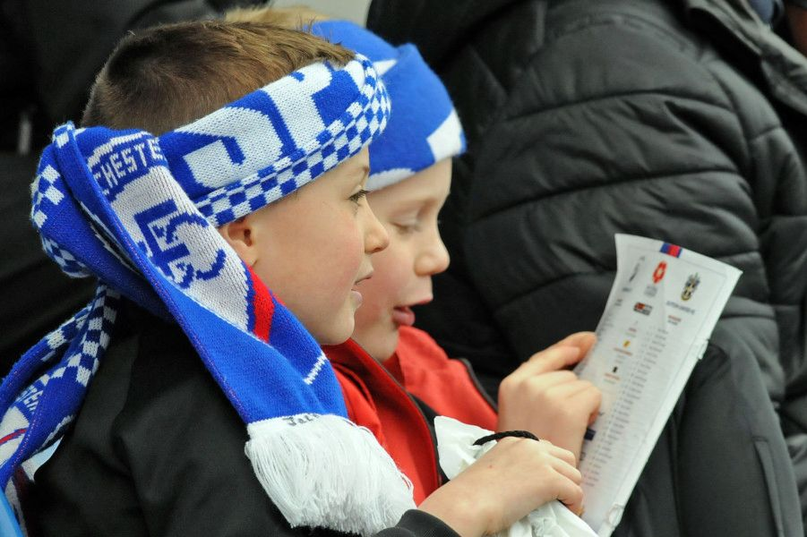 Chesterfield fans ahead of kick-off.
