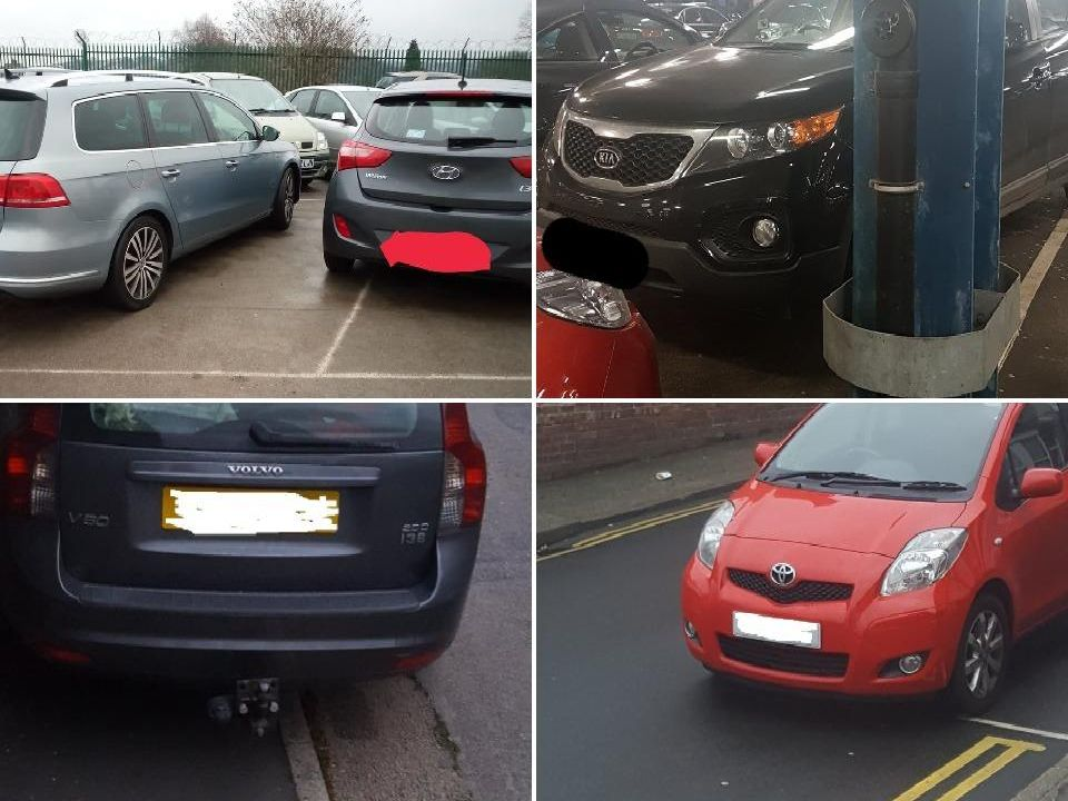 Bad parking in Chesterfield in 2019