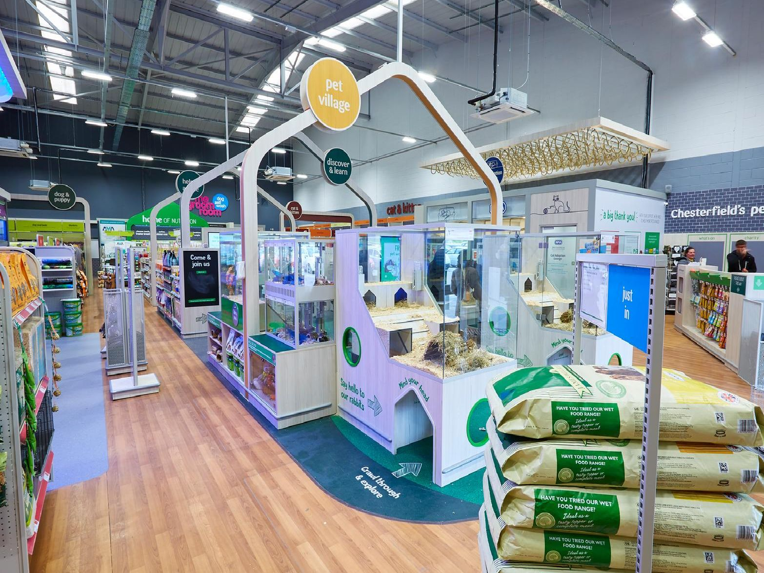 The Pet Village has been revamped with pets in mind to ensure there is plenty of room for them to play, hide, eat and sleep.