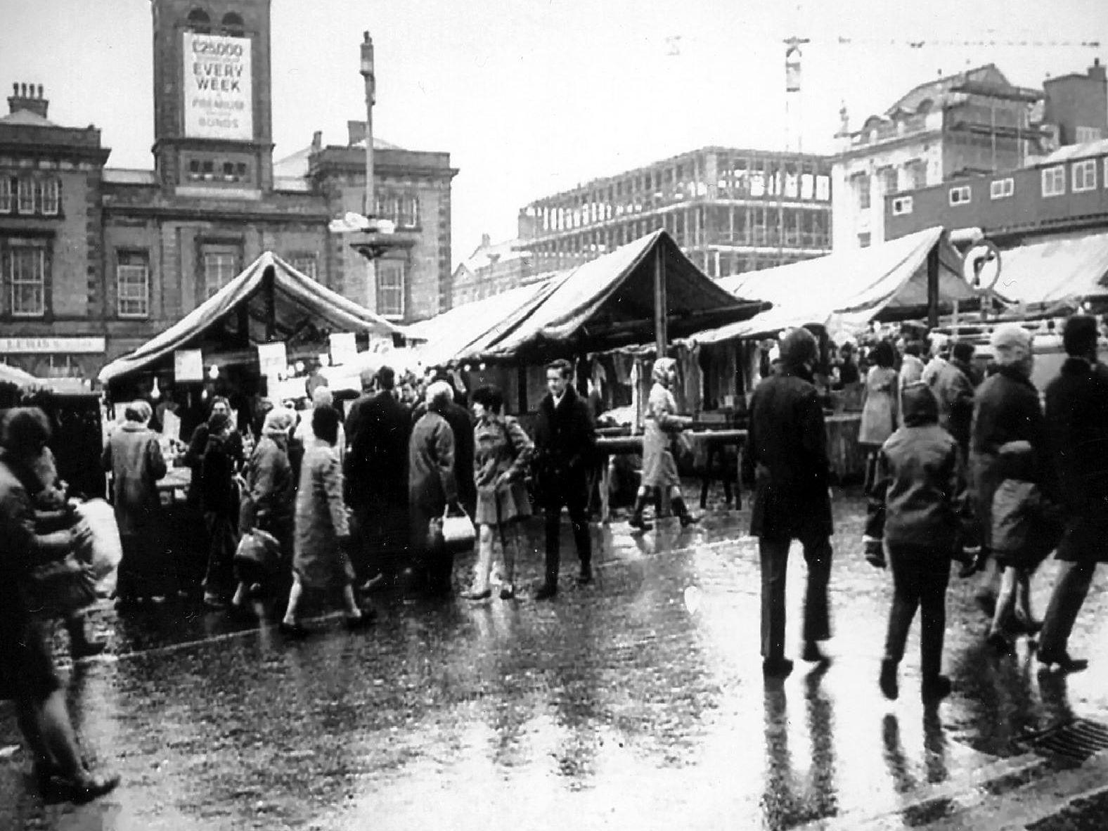 Chesterfield Market place. Picture supplied by Alan Taylor.