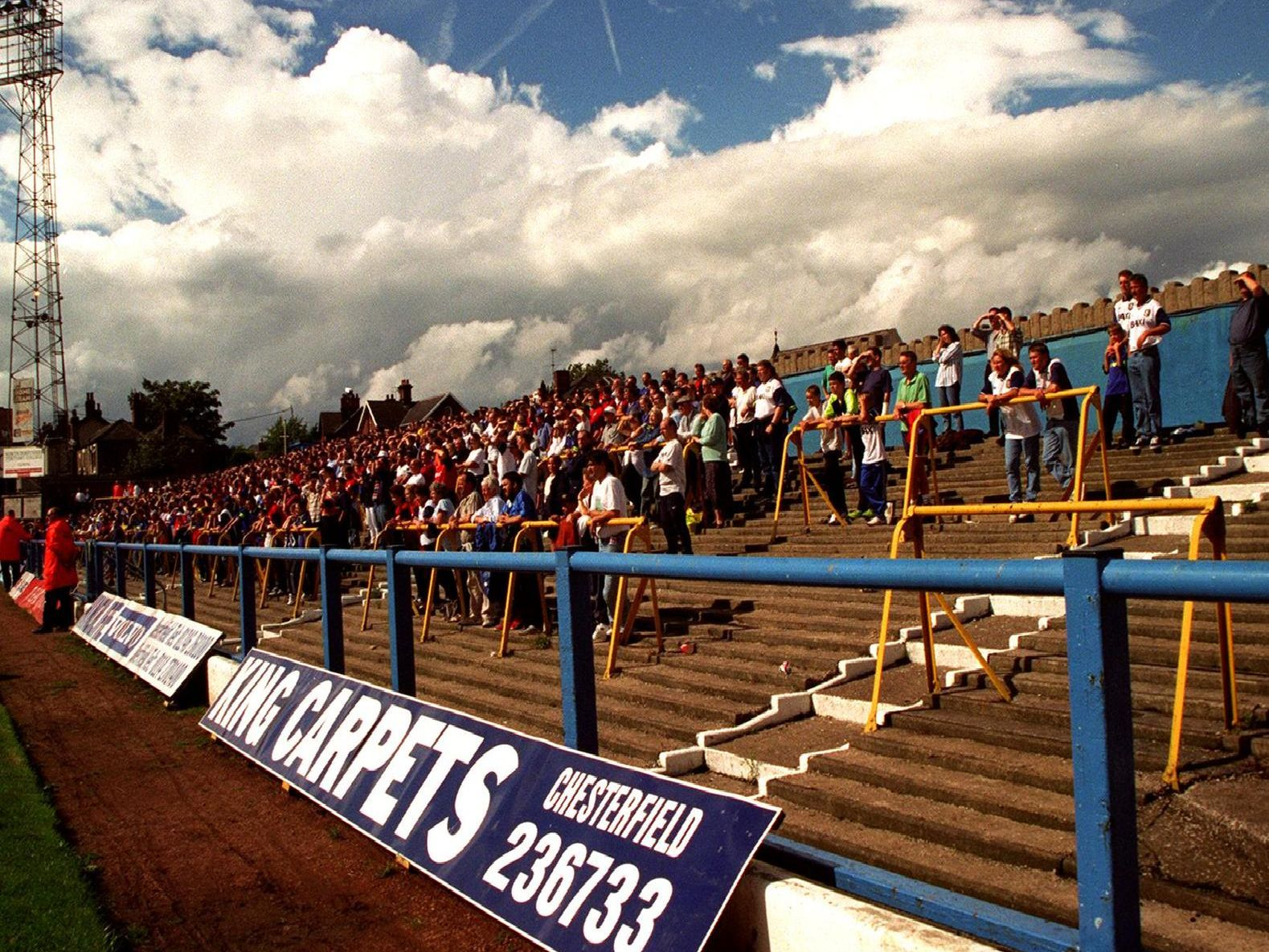 Chesterfield v Preston, Old uncovered standing end at Chesterfields old ground.