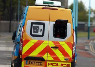 A speed camera van.