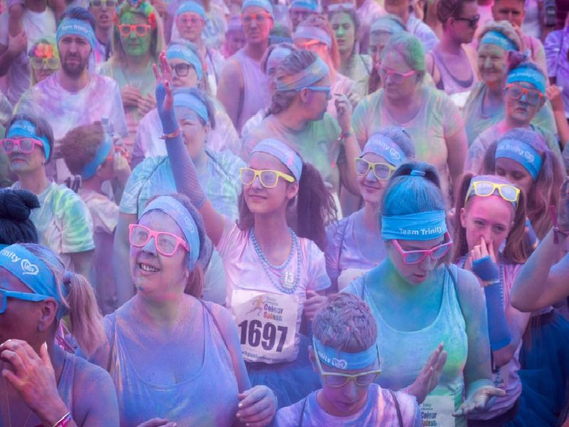There were people of all ages taking part in the Blackpool Colour splash for Trinity  Hospice on the beach at South Shore, Blackpool