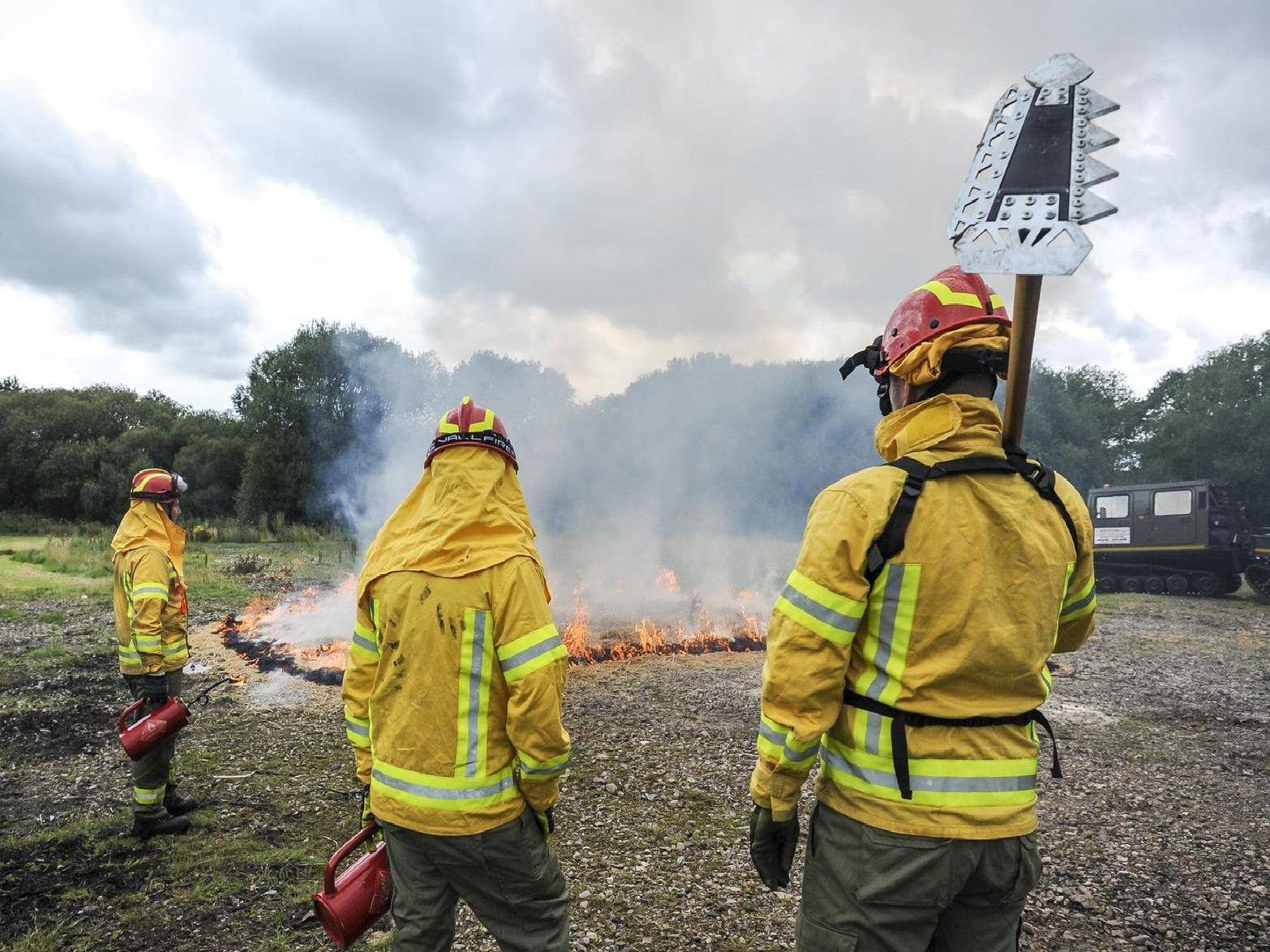 A demonstration was held at the fire services training centre in Chorley yesterday, with the seminar attended by experts from around the world.