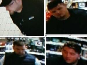 Police would like to speak to the four men pictured in connection with the incident