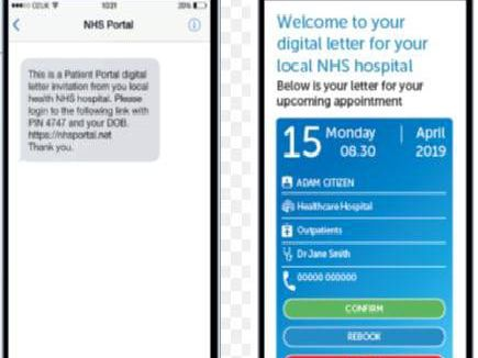 Example of how a digital outpatients letter might look