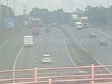 A man has been taken to hospital by ambulance after falling from a bridge over the M6 near Leyland (May 21).