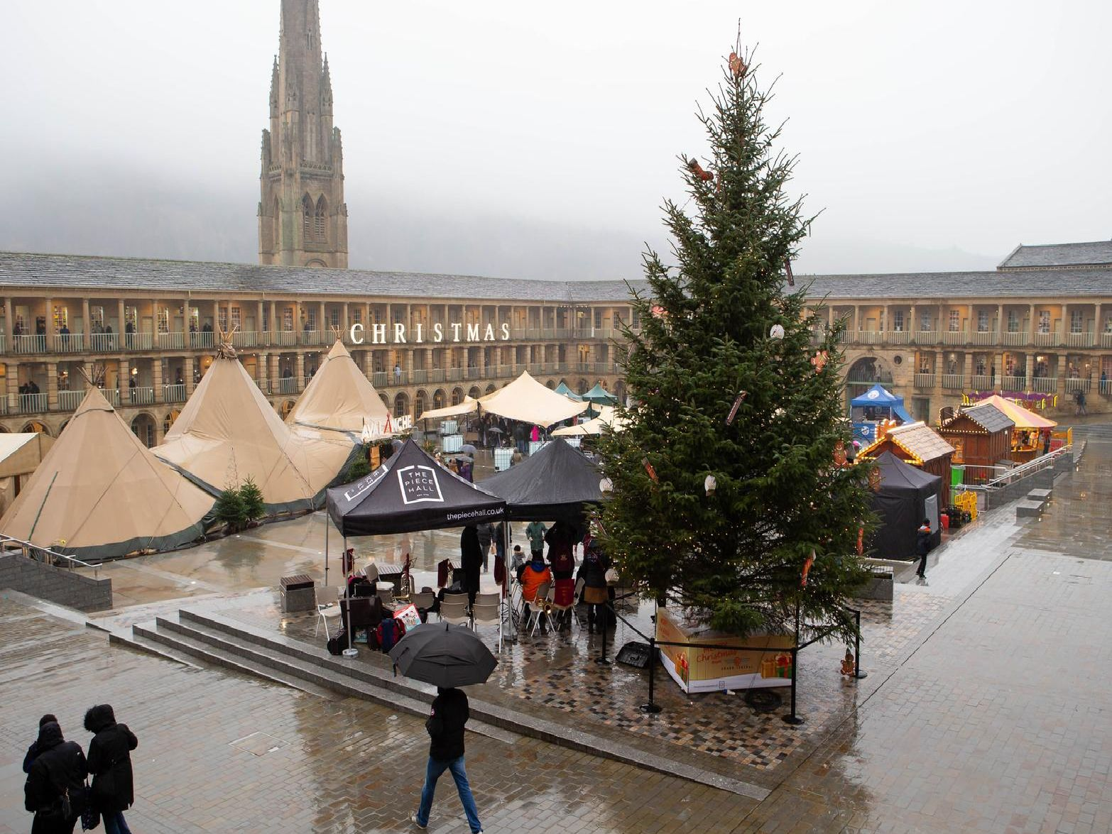 The Christmas Market at the Piece Hall
