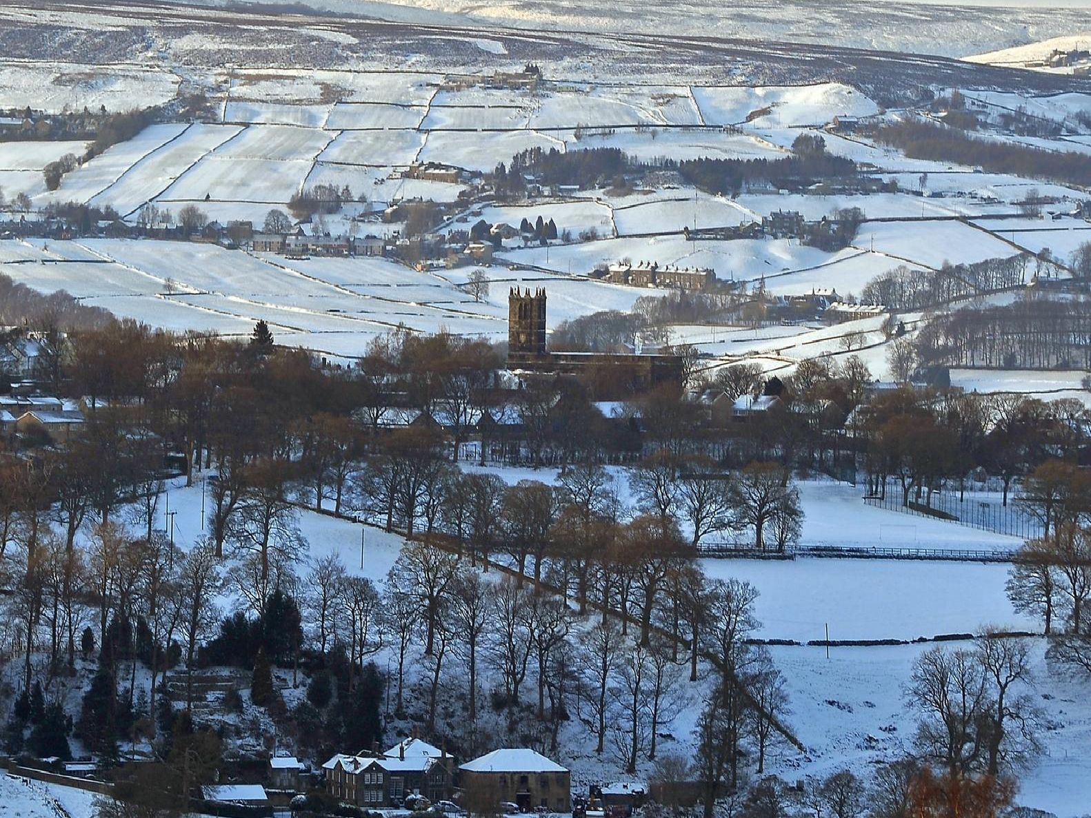 Snow scene in Calderdale