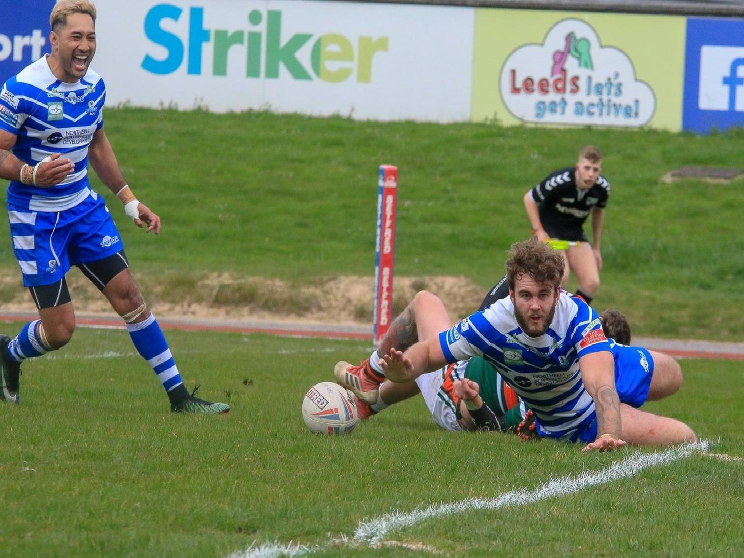 Hunslet v Halifax in the Challenge Cup. Simon Hall/OMH Rugby Pics