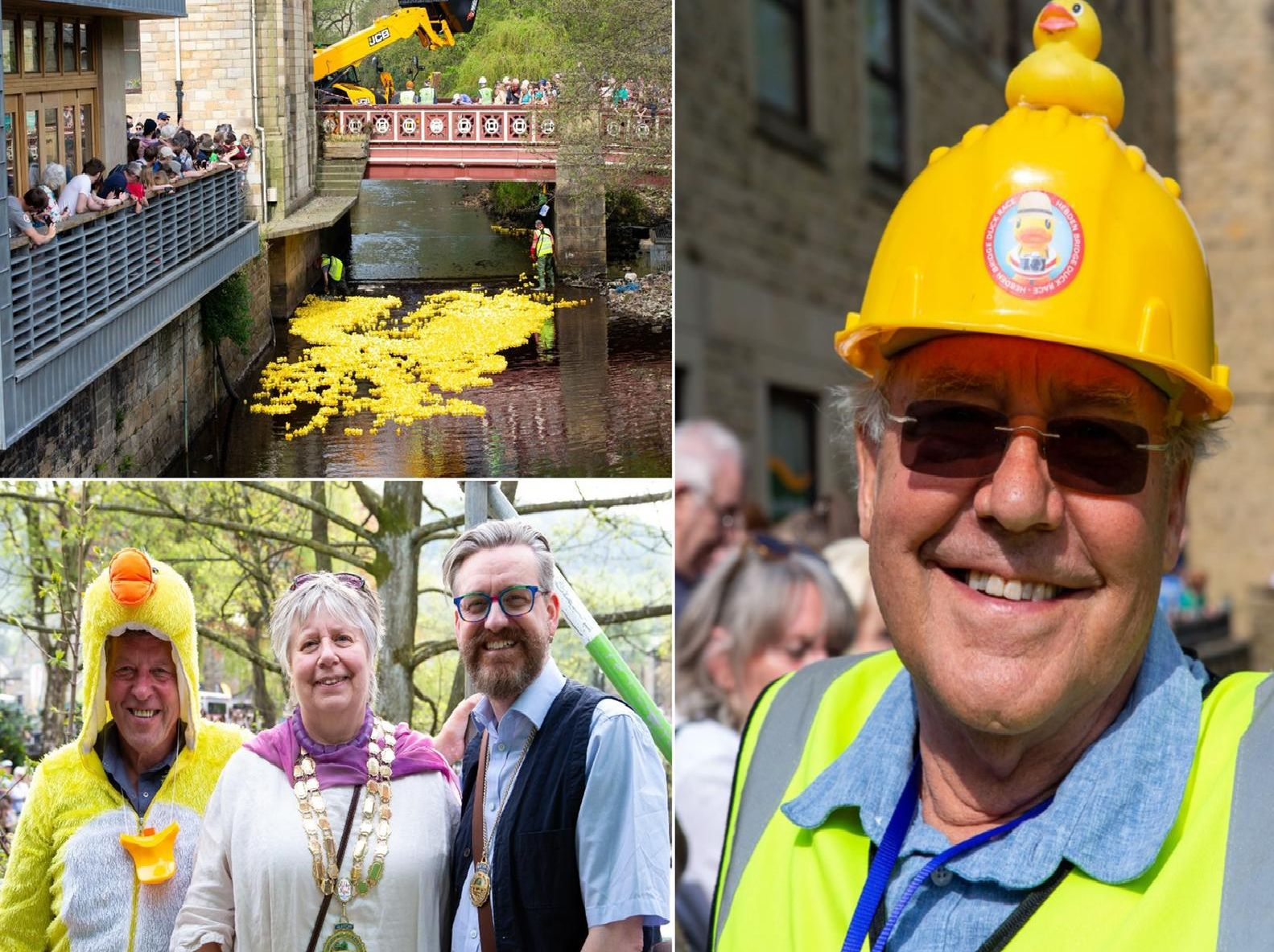 The annual Hebden Bridge Duck Race