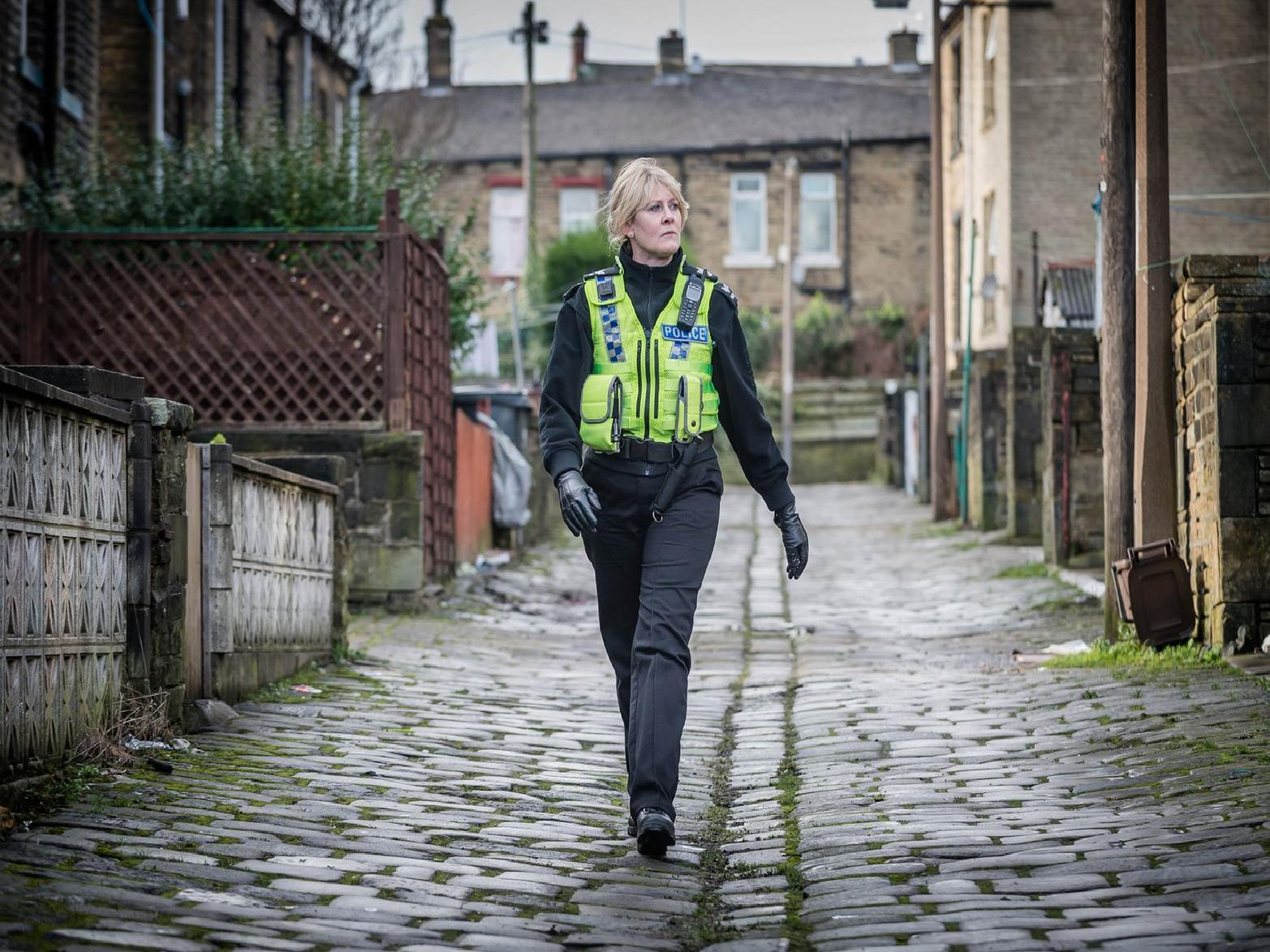 Sarah Lancashire starring in the BBC hit drama Happy Valley