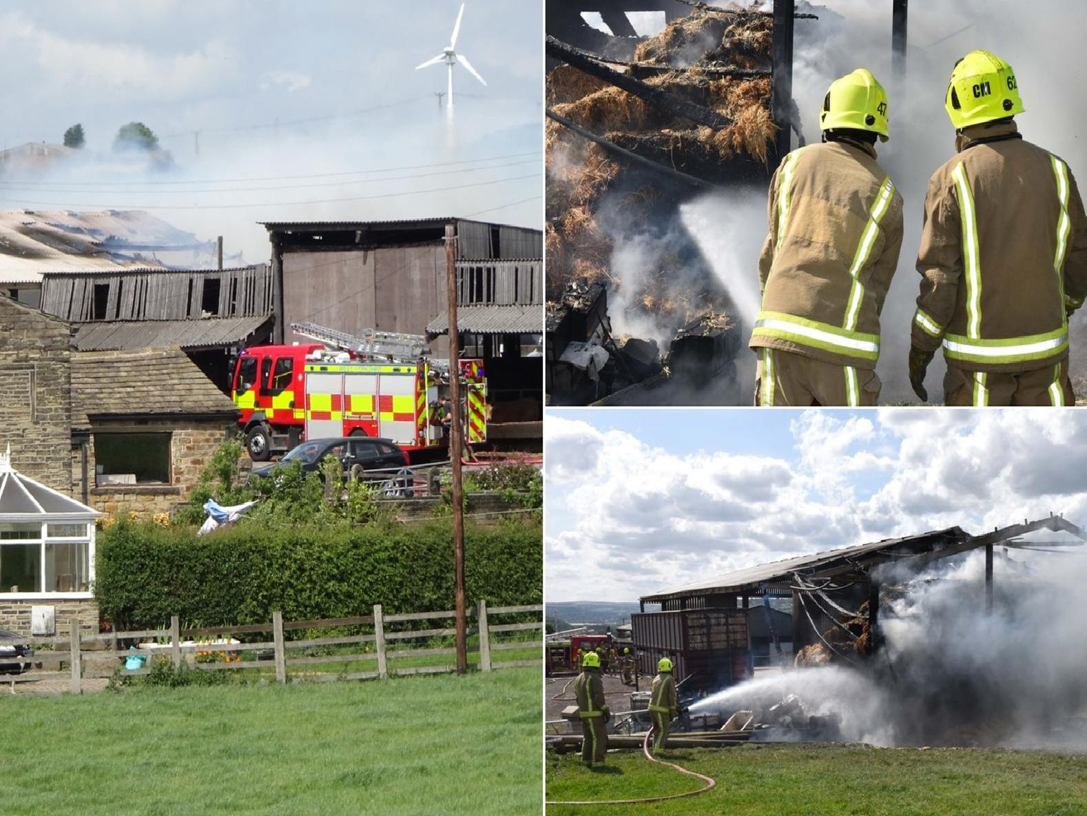 Pictures of the Brighouse barn fire by Stuart Black and WYFRS