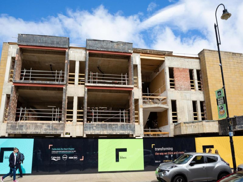 How the Northgate House retail complex and Halifax Sixth form centre is progressing