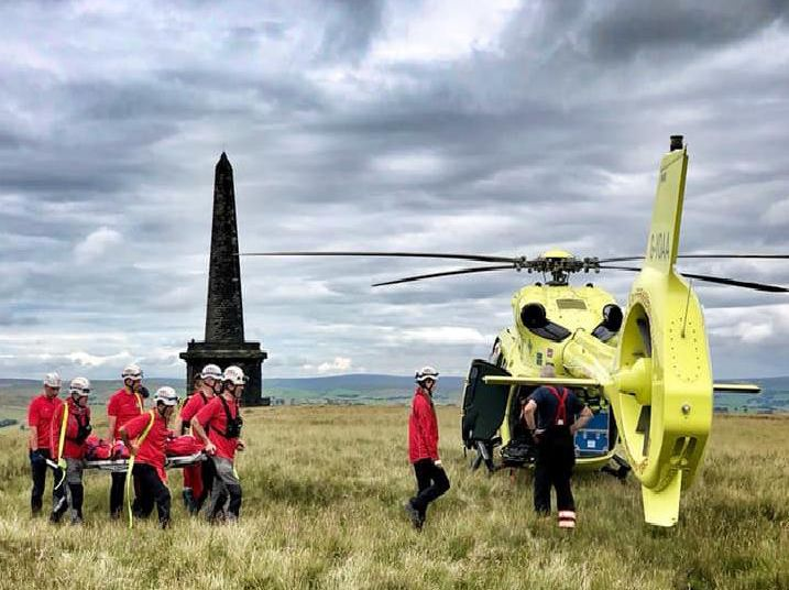 Woman airlifted to hospital from Stoodley Pike (Picture by Calder Valley Search and Rescue)